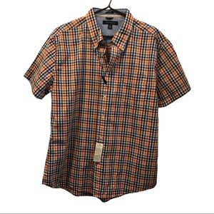 NWT Tommy Hilfiger plaid shirt  sleeve shirt XL